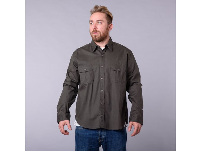 MENS RINSED LS SHIRT