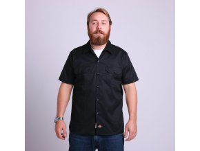 SHORT SLEEVE SLIM WORK SHIRT BK