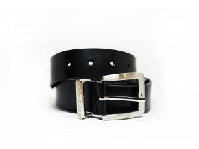 LEATHER BELT BK